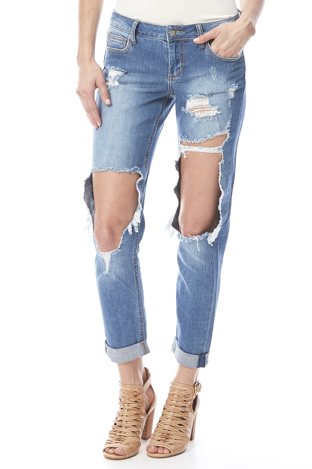 shoes for cheap moderate cost search for latest Cello Jeans Cutout Boyfriend Jean from Pennsylvania by Urban ...