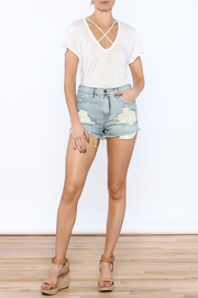 Cello Jeans Destroyed Mini Short - Front full body
