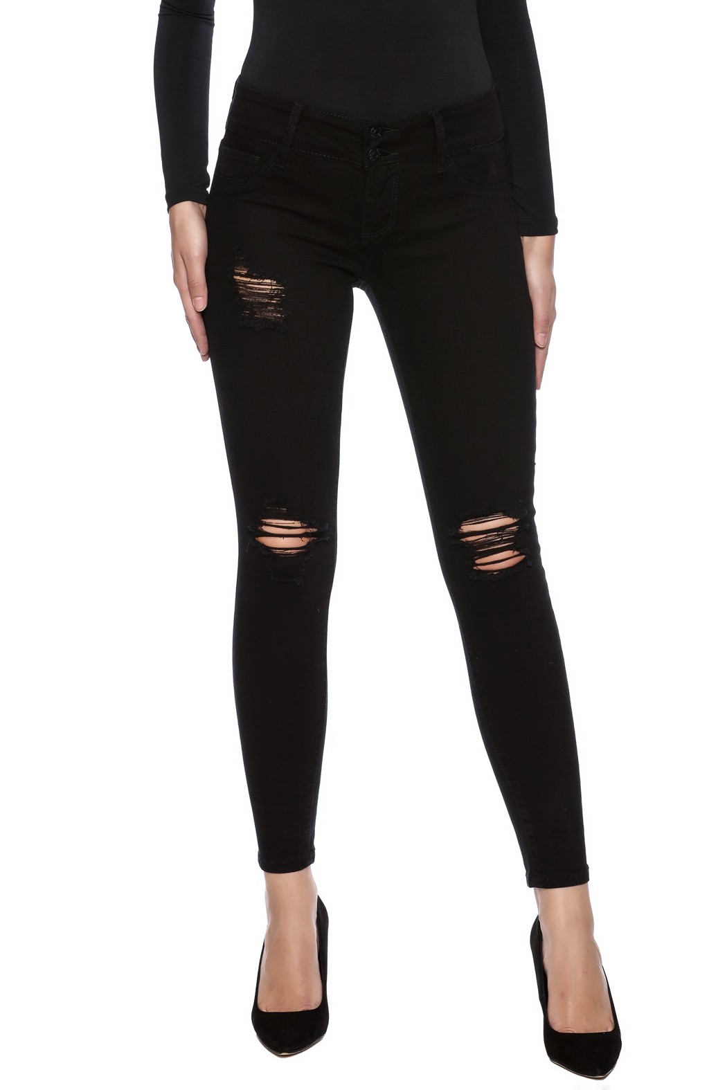 Cello Jeans Distressed Skinny Jeans - Main Image