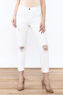 Shoptiques Product: Fray Cuff Jeans