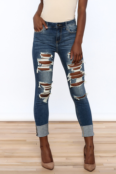 Shoptiques Product: High Rise Crop Skinny Jeans