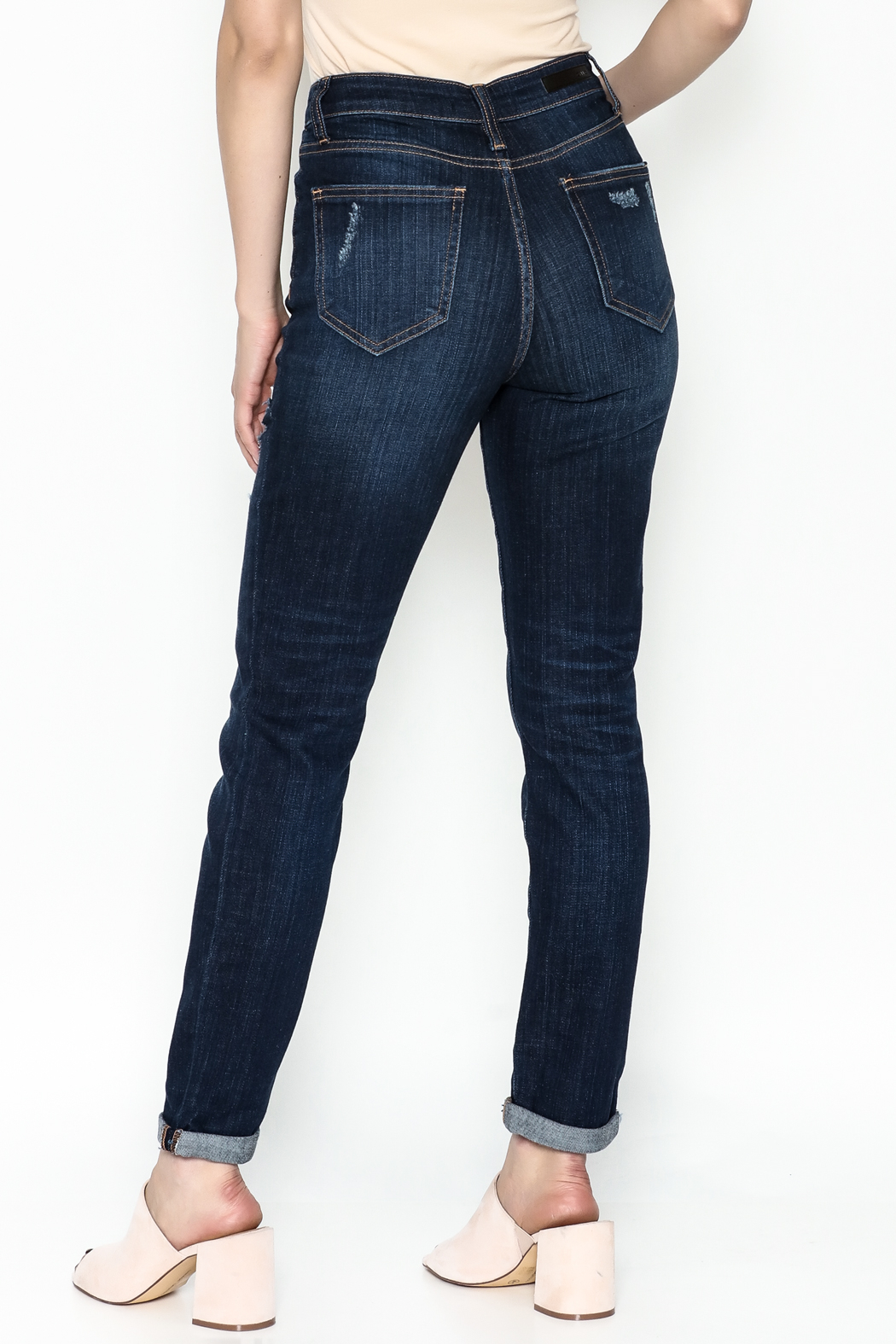 Cello Jeans Mid Rise Slim Jeans - Back Cropped Image