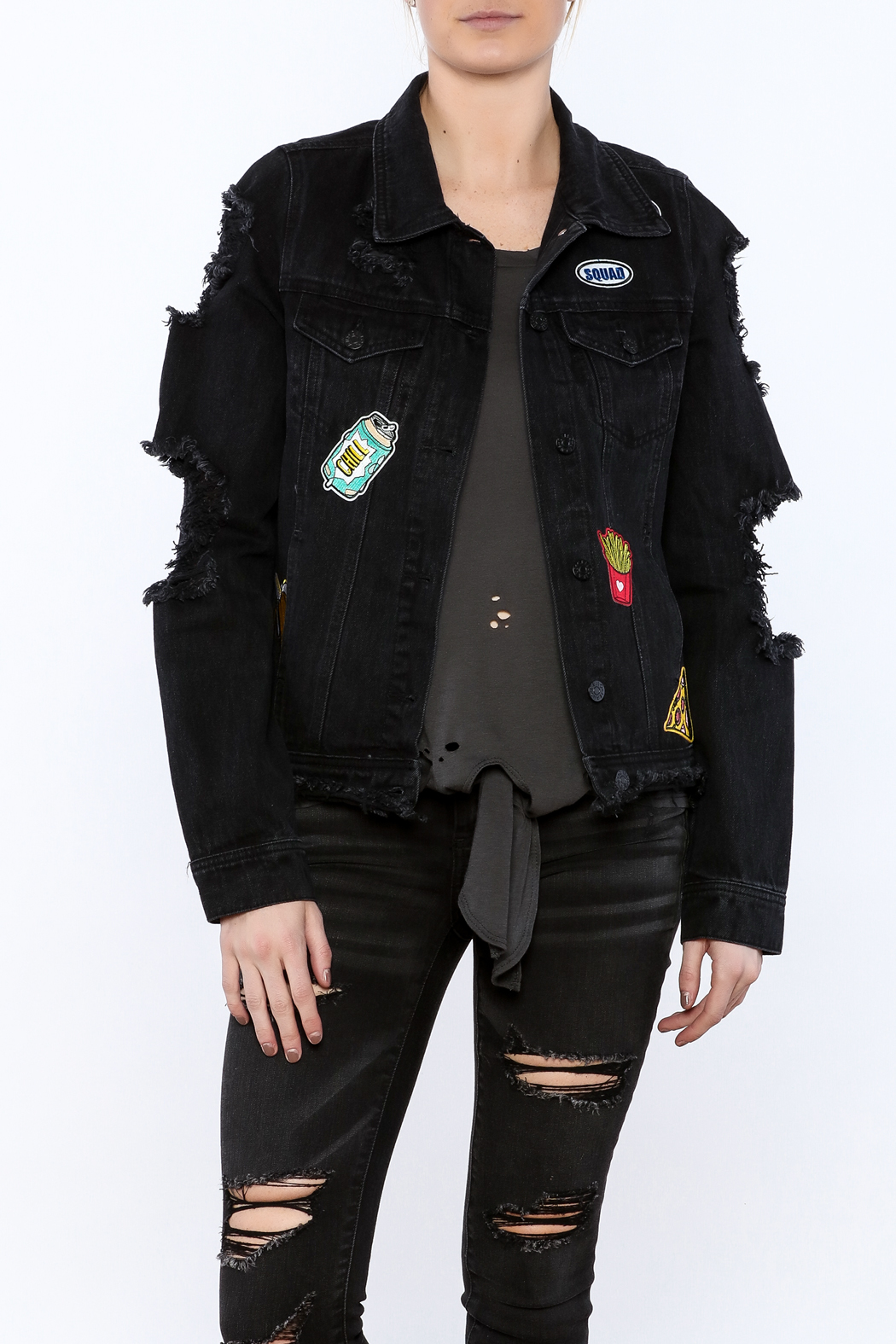 3f84893ad5e Cello Jeans Black Denim Jacket from New York by Pink + Honey ...