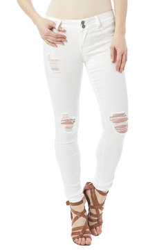 Cello White Distressed Jeans - Product List Image