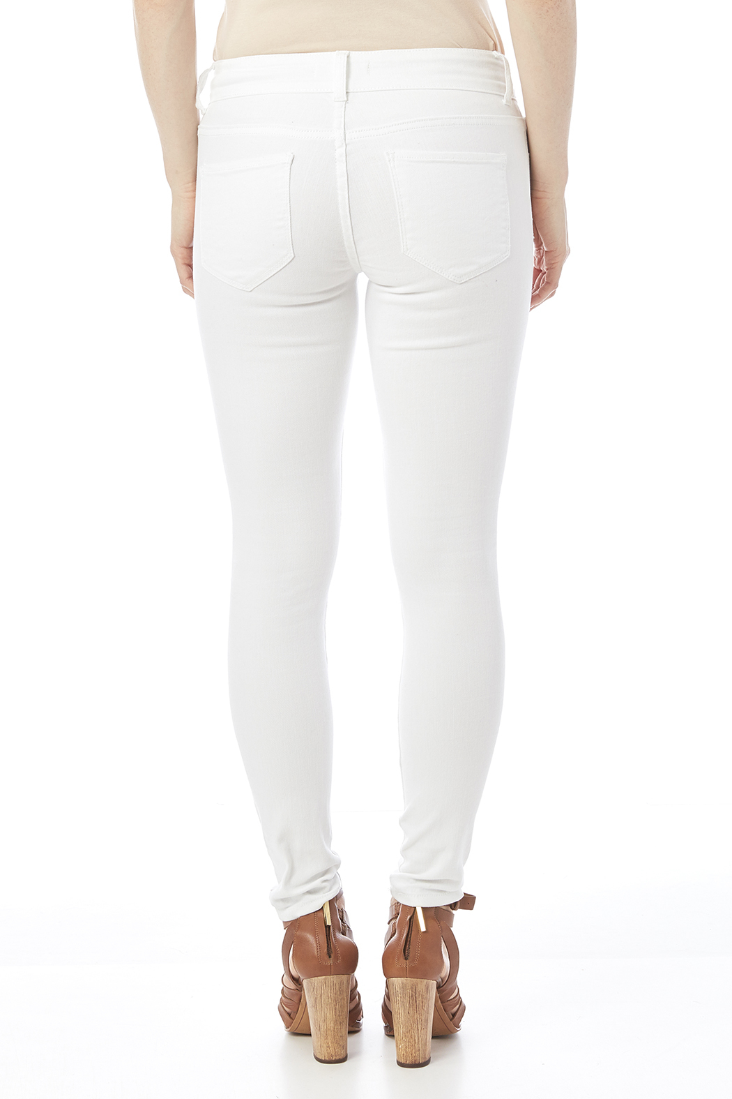 Cello White Distressed Jeans - Back Cropped Image