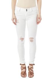 Cello White Distressed Jeans - Side cropped