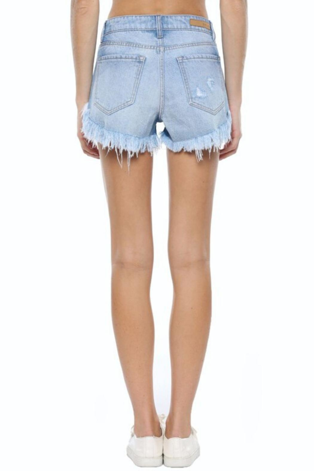 Cello Jeans 4-Button Denim Short - Side Cropped Image