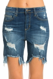 Cello Jeans Bermuda Uneven Hem Shorts - Product Mini Image