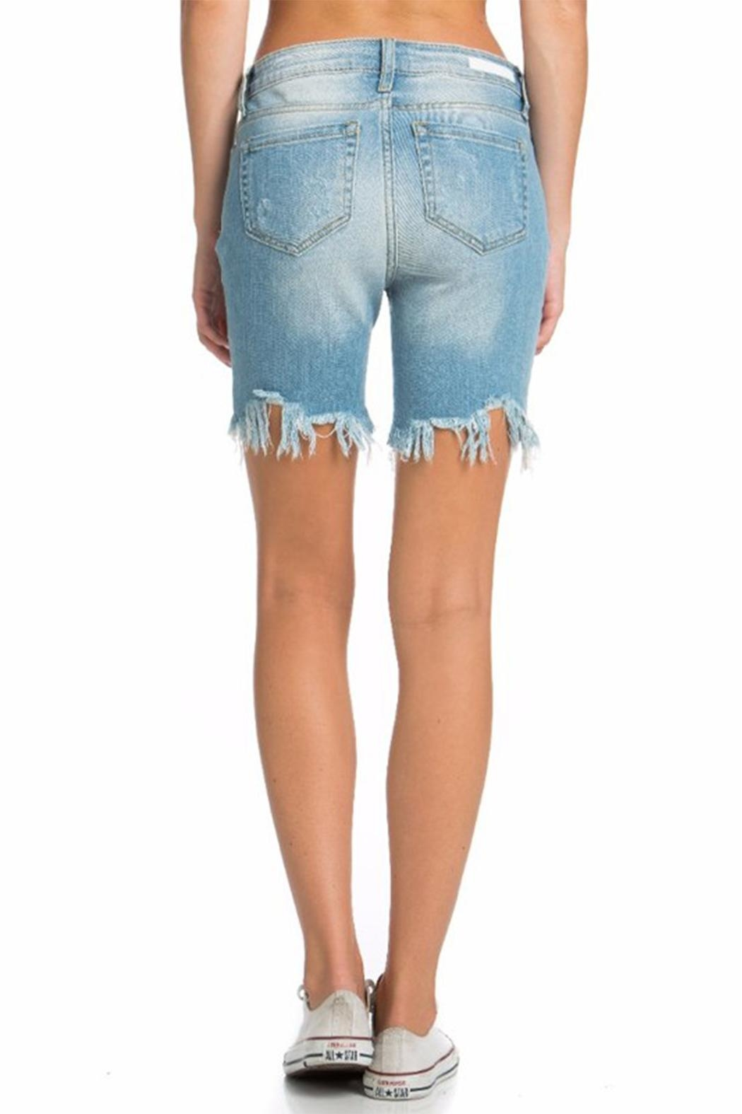 Cello Jeans Bermuda Uneven Shorts - Back Cropped Image