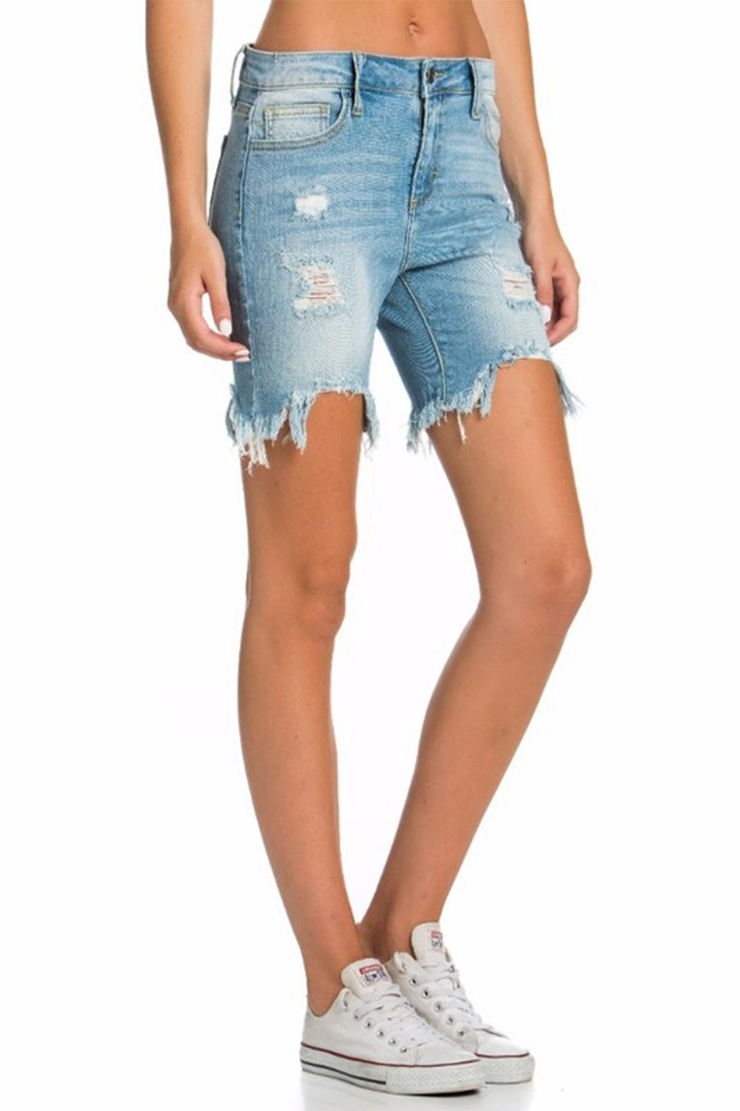 Cello Jeans Bermuda Uneven Shorts - Side Cropped Image