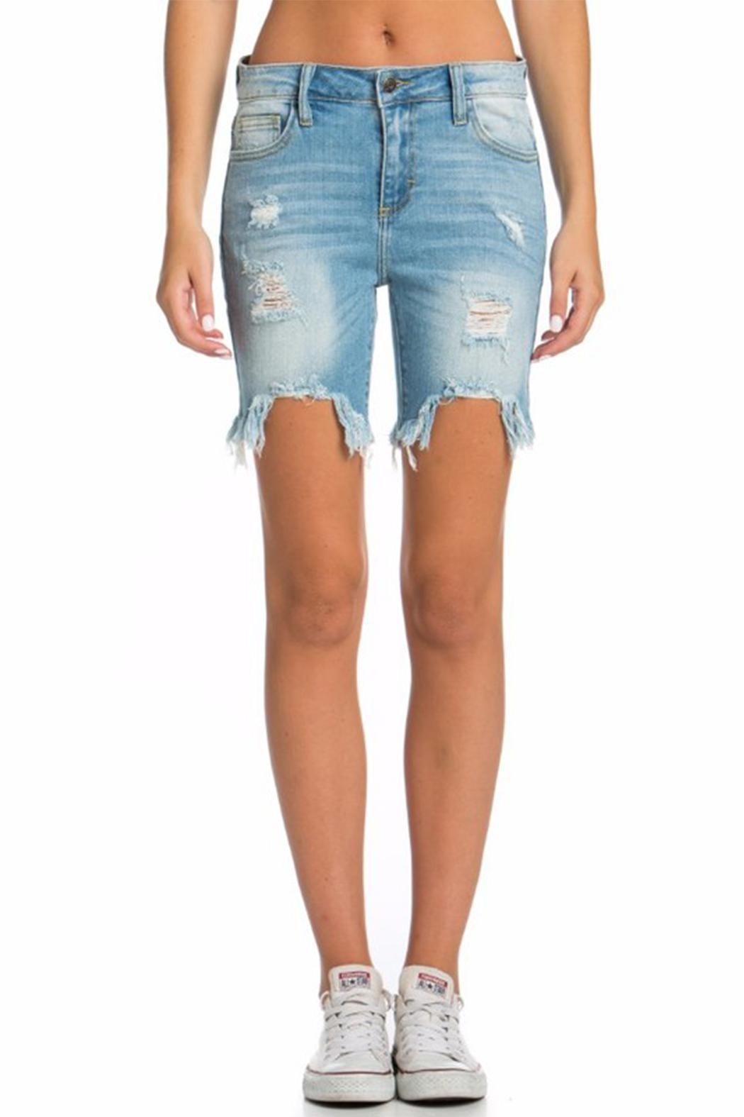 Cello Jeans Bermuda Uneven Shorts - Front Full Image