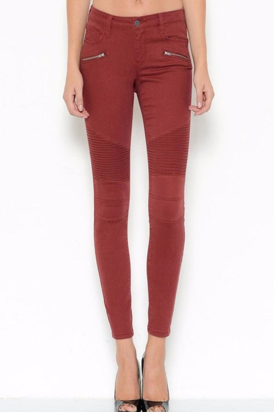 Cello Jeans Burgandy Skinny Jeans - Main Image