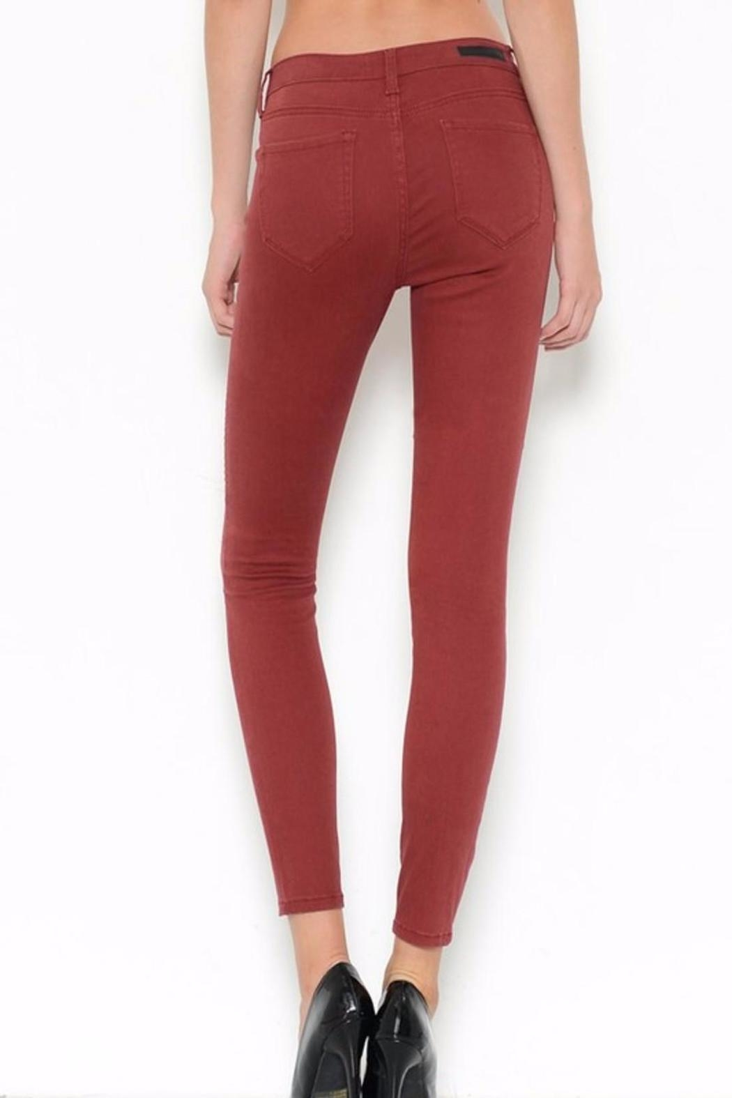 Cello Jeans Burgandy Skinny Jeans - Front Full Image