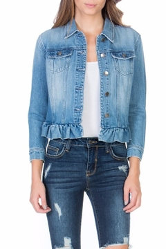 Cello Jeans Denim Ruffle Jacket - Product List Image