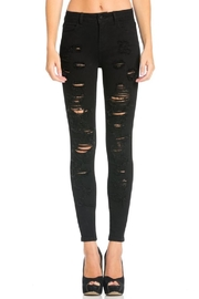 Cello Jeans Destroyed Black Skinny Jeans - Front cropped