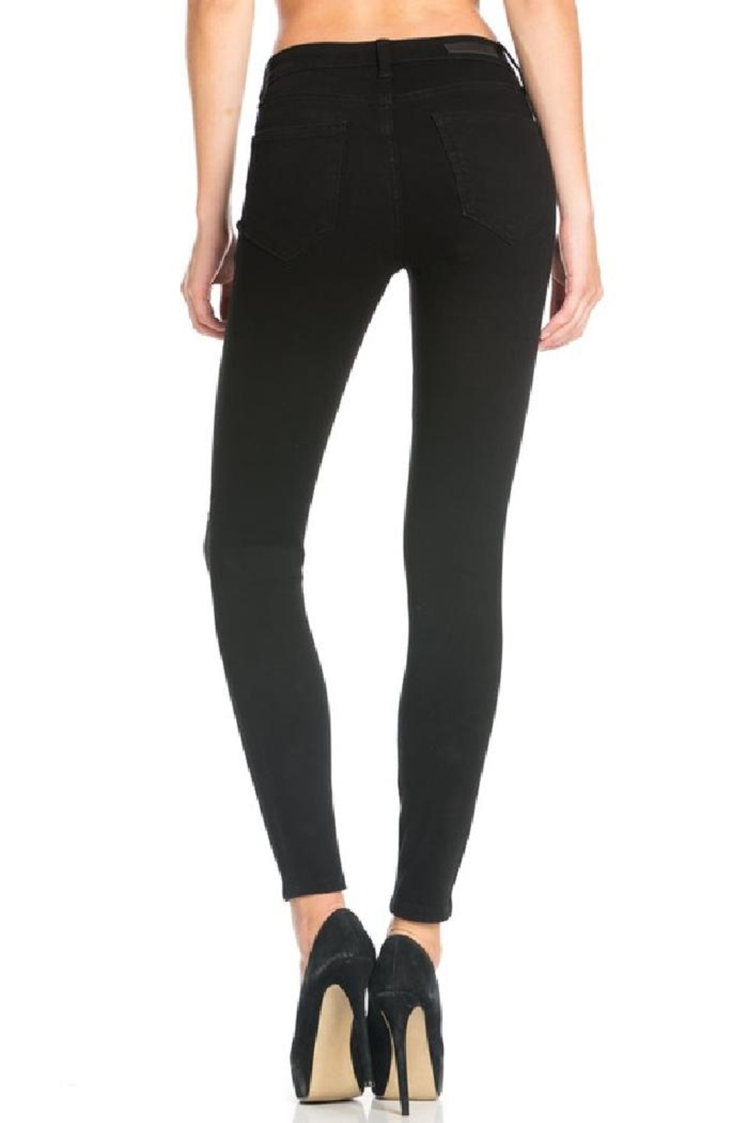 Cello Jeans Destroyed Black Skinny Jeans - Side Cropped Image