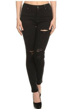 Cello Jeans Destroyed Black Skinny - Product List Image