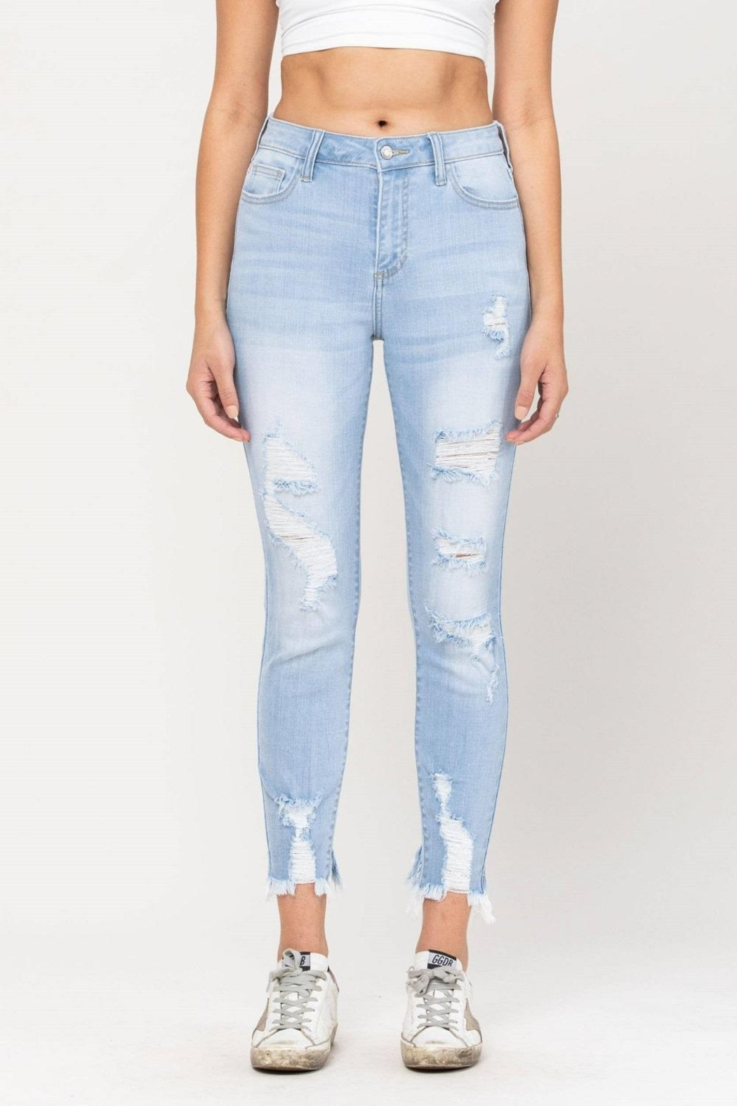 Cello Jeans Destructed Ankle Skinny - Main Image