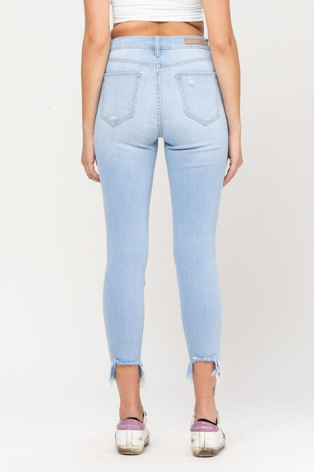 Cello Jeans Destructed Ankle Skinny - Side Cropped Image