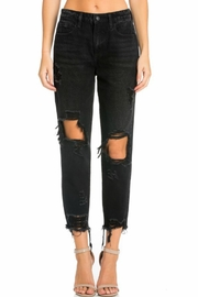 Cello Jeans Distressed Girlfriend Jeans - Product Mini Image