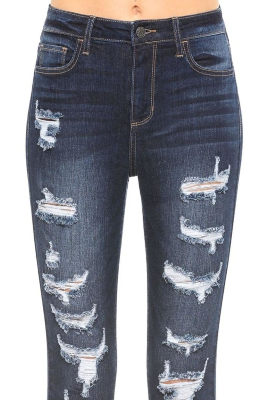 Cello Jeans Frayed Distressed Jeans - Back Cropped Image