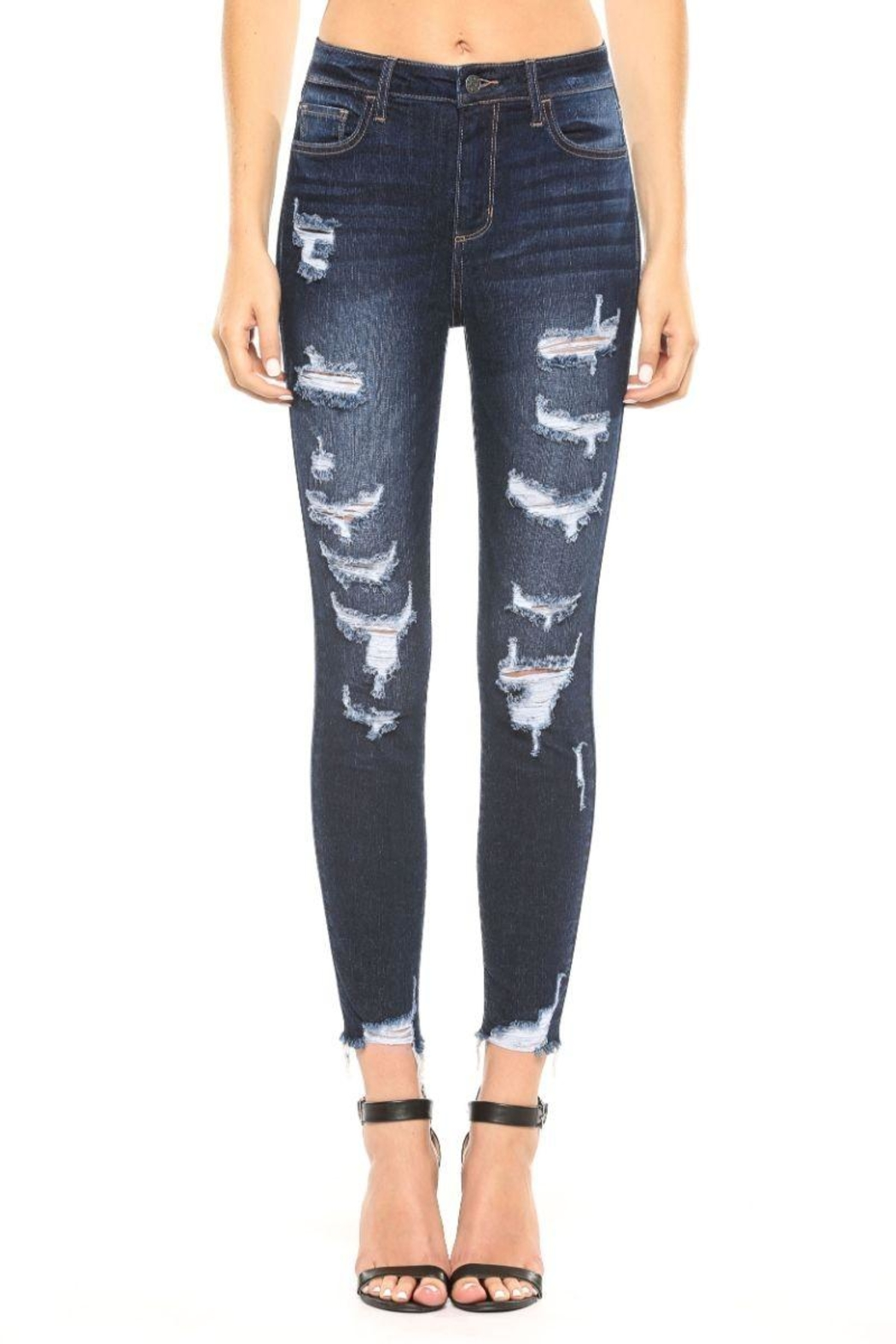 Cello Jeans Frayed Distressed Jeans - Main Image