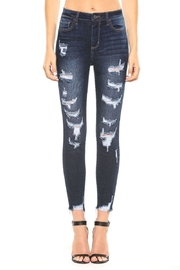 Cello Jeans Frayed Distressed Jeans - Front cropped