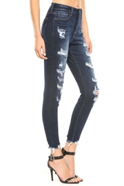Cello Jeans Frayed Distressed Jeans - Side cropped