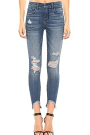 Cello Jeans Frayed-Hem Crop Skinny-Jeans - Product Mini Image