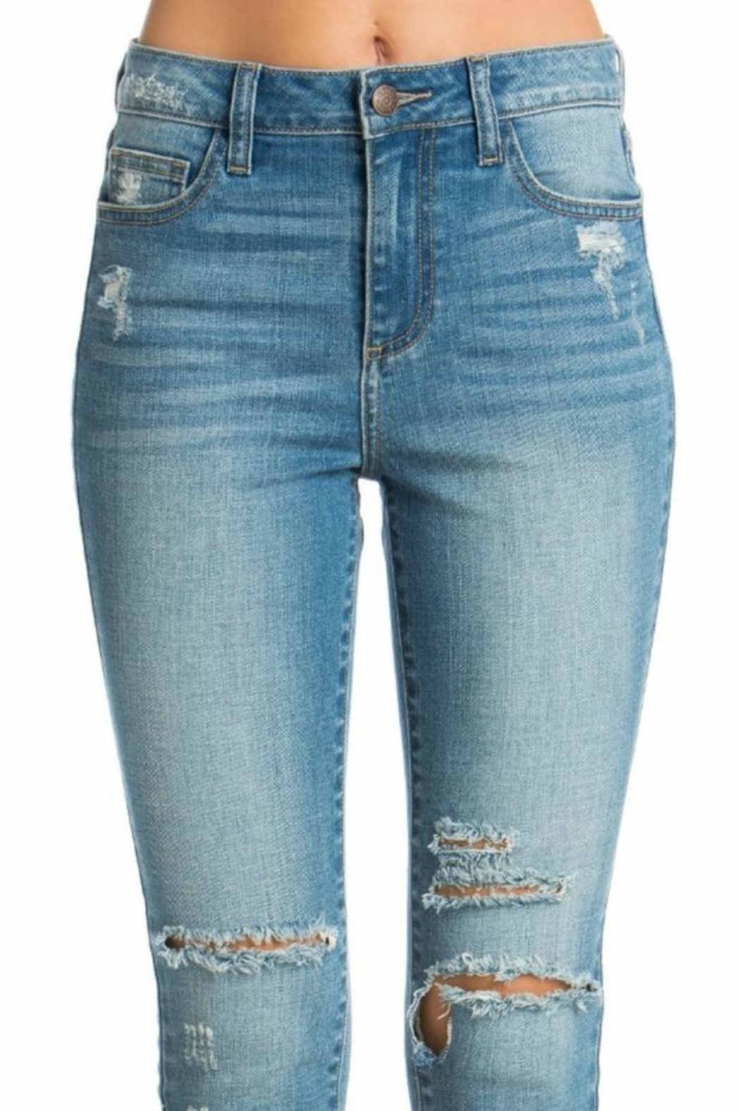 Cello Jeans High-Rise Crop - Front Full Image