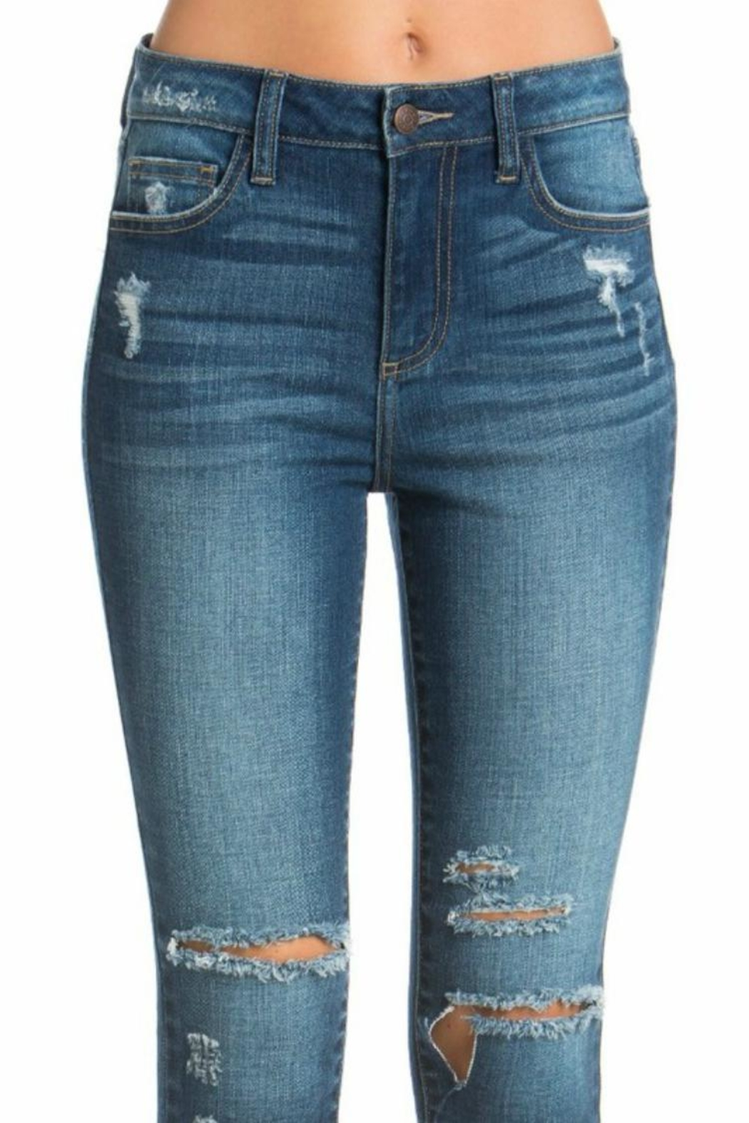 Cello Jeans High-Rise Crop Jeans - Side Cropped Image