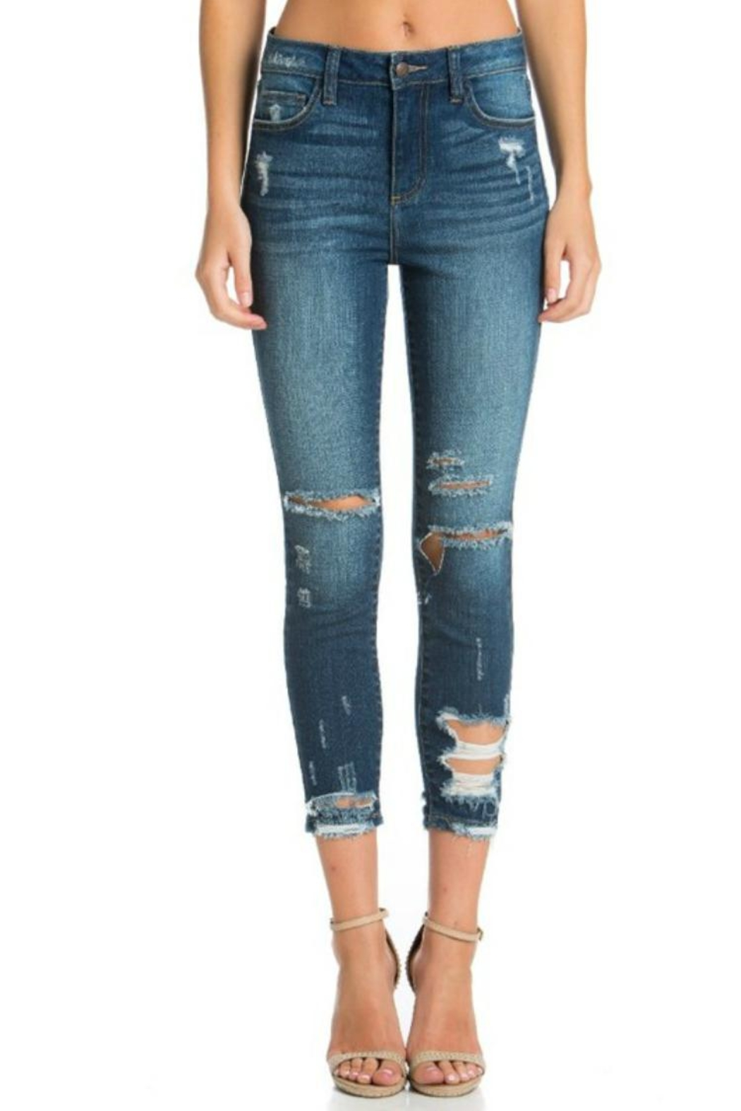 Cello Jeans High-Rise Crop Jeans - Main Image