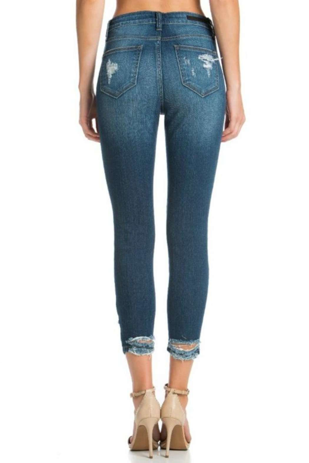 Cello Jeans High-Rise Crop Jeans - Front Full Image