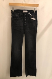 Cello Jeans High Rise Frayed Hem 5 Button Crop Flare - Product Mini Image