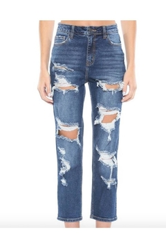 Cello Jeans High Rise Heavy Distress Straight - Alternate List Image