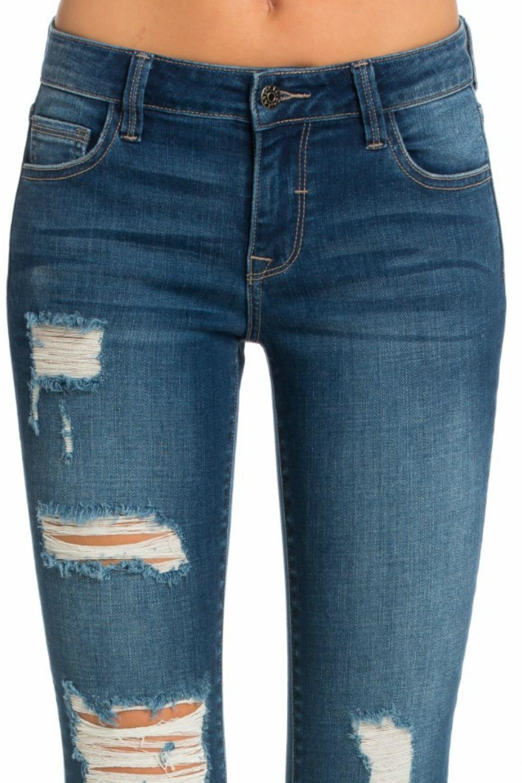 Cello Jeans Mid Rise Pocket - Back Cropped Image