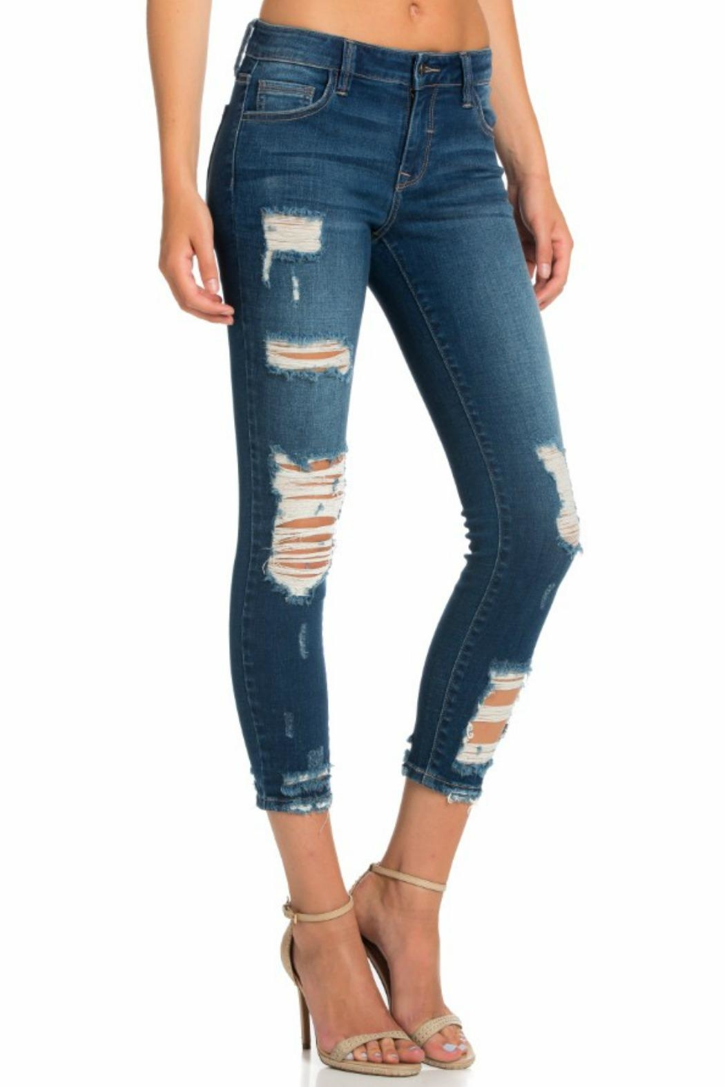 Cello Jeans Mid Rise Pocket - Front Full Image