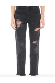 Cello Jeans Mid Rise Black Boyfriend Jeans - Product Mini Image