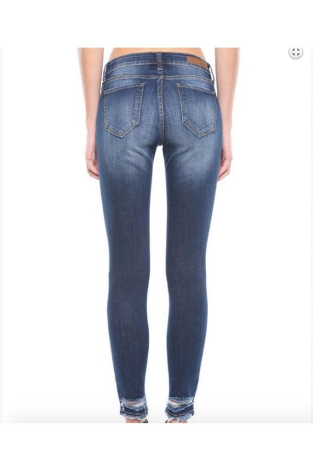 Cello Jeans Mid Rise Distress Ankle Skinny - Front Full Image