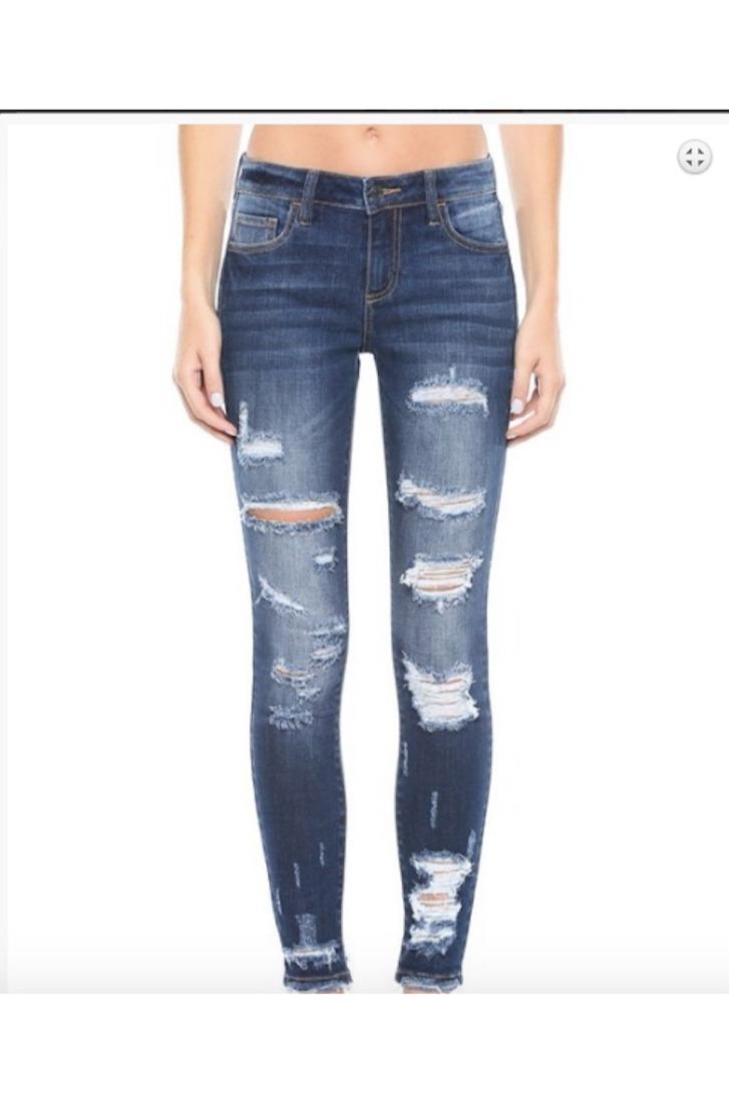 Cello Jeans Mid Rise Distress Ankle Skinny - Main Image