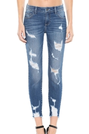 Cello Jeans Mid-Rise Distress Skinny-Jean - Product Mini Image