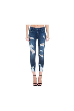 Cello Jeans Mid Rise Heavy Destroy Crop Skinny - Product List Image