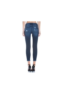 Cello Jeans Mid Rise Heavy Destroy Crop Skinny - Alternate List Image