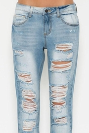 Cello Jeans Ripped Boyfriend Jeans - Back cropped