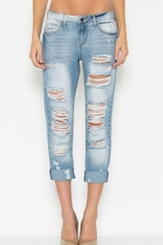 Cello Jeans Ripped Boyfriend Jeans - Product Mini Image