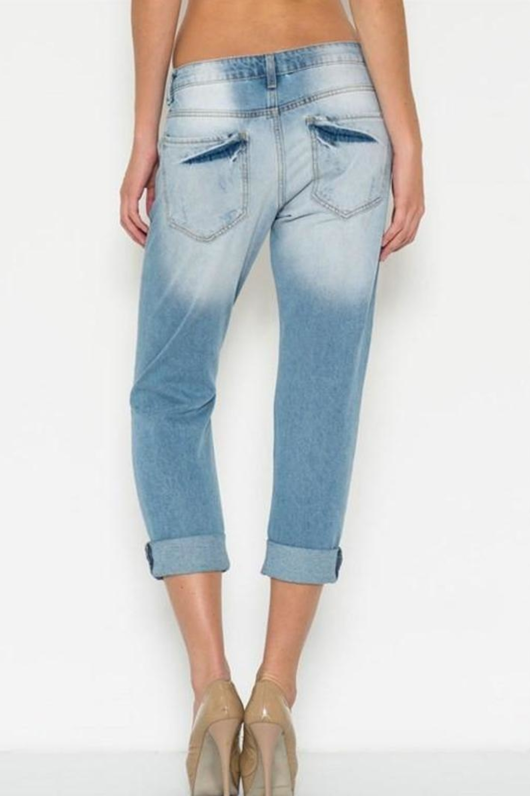 Cello Jeans Ripped Boyfriend Jeans - Side Cropped Image
