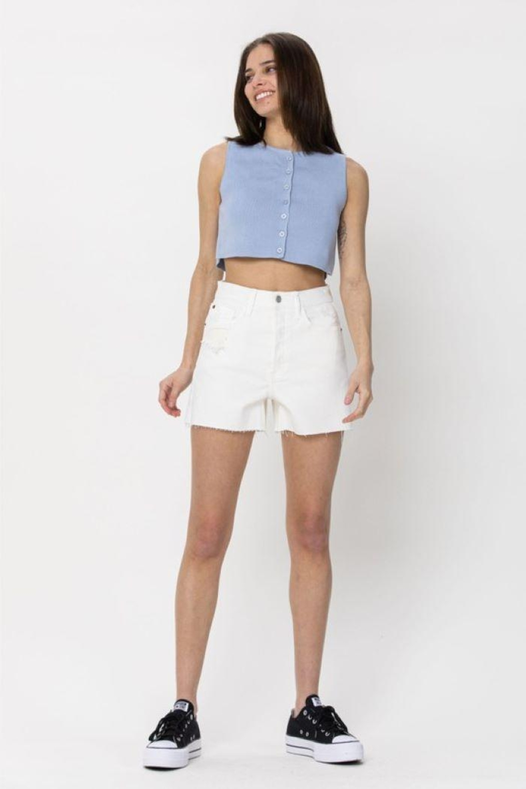 Cello Jeans Vintage High Rise Mom Shorts - Main Image
