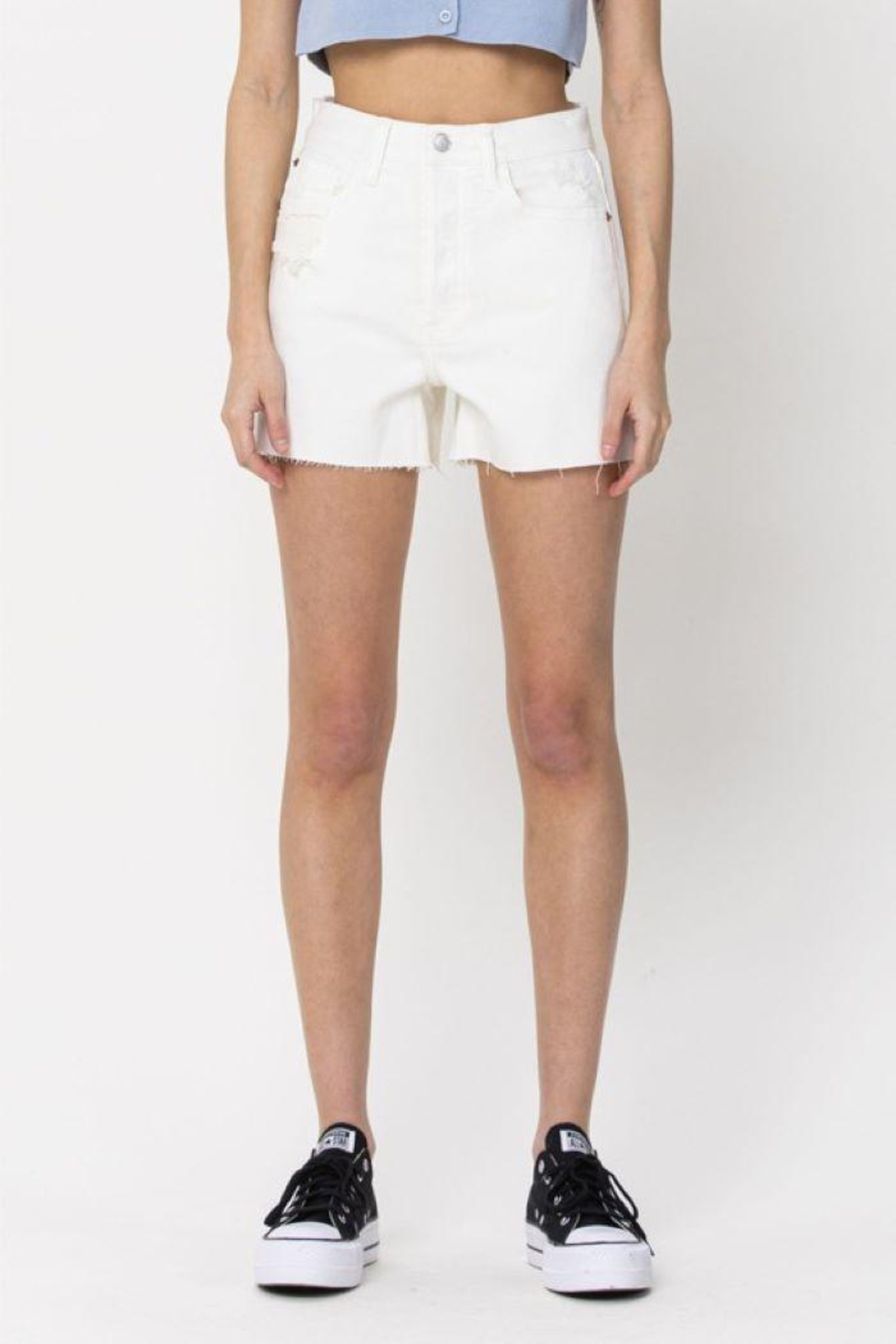 Cello Jeans Vintage High Rise Mom Shorts - Side Cropped Image
