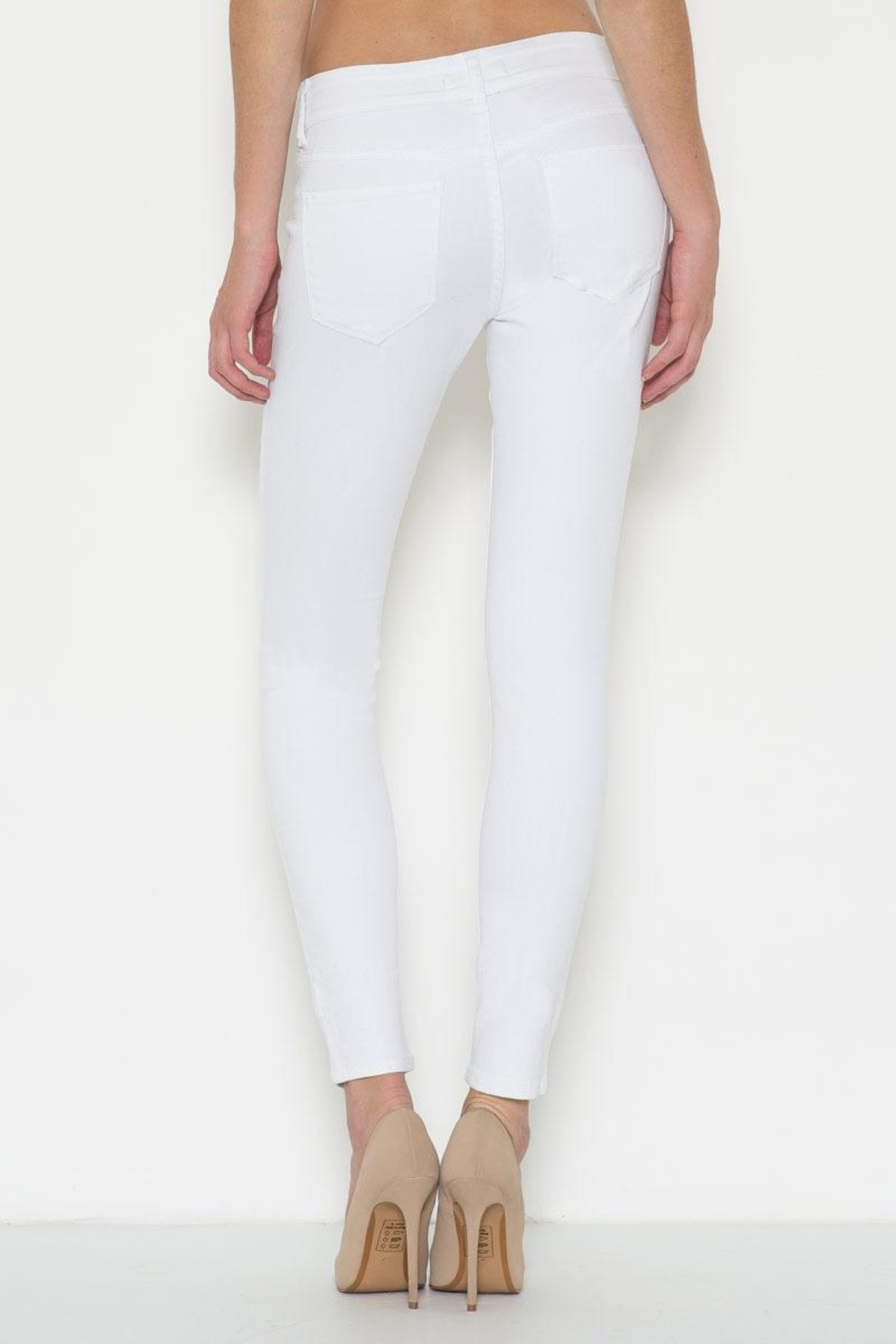 Cello Jeans White Distressed Jeans - Side Cropped Image
