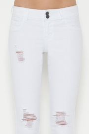 Cello Jeans White Distressed Jeans - Front full body